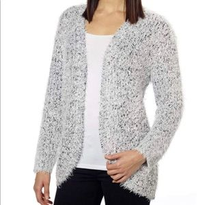 Kensie Black / White Soft Open Front Cardigan S